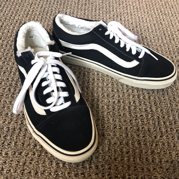 affär köpa bäst köpa Vans Shoes | Old Skool Faux Fur Lined Black Sneakers 85 | Poshmark